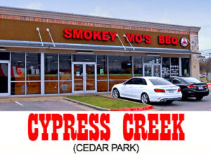 Cedar Park BBQ Location - Cypress Creek