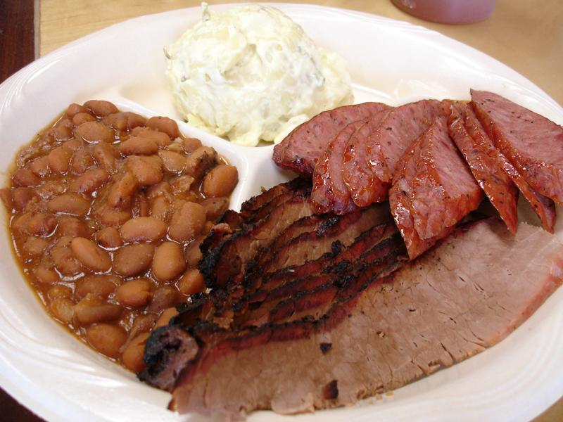 San Antonio Barbecue Plate, Smokey Mo's BBQ