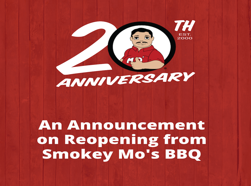 Smokey Mo's BBQ, Dining Rooms Reopring, COVID-19 update