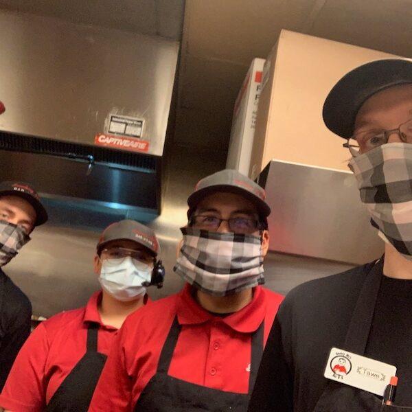 Smokey Mo's BBQ, Covid-19 Response, Coronavirus, Employees in masks