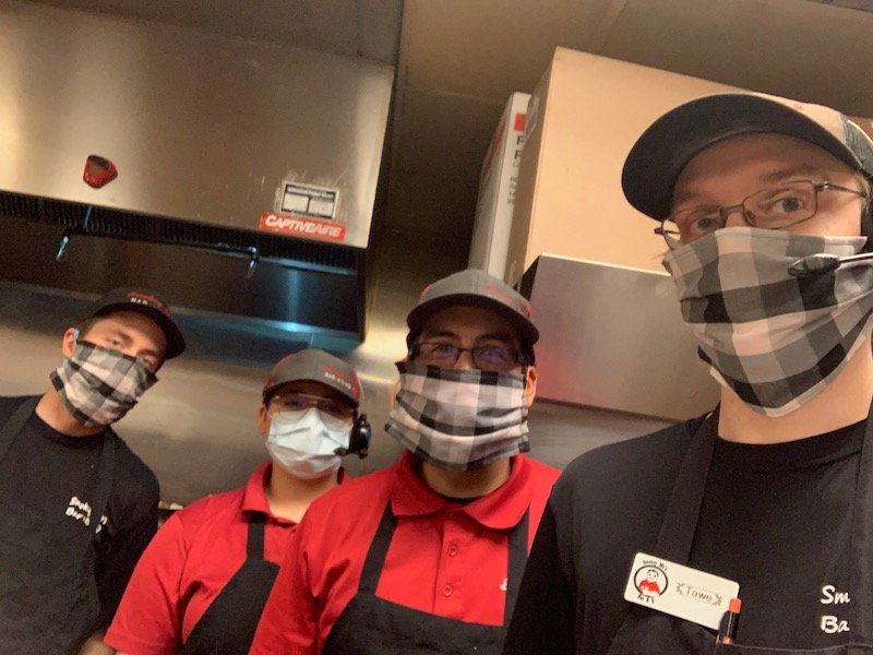 Smokey Mo's BBQ, Covid-19 Response, Coronavirus, Employees in masks