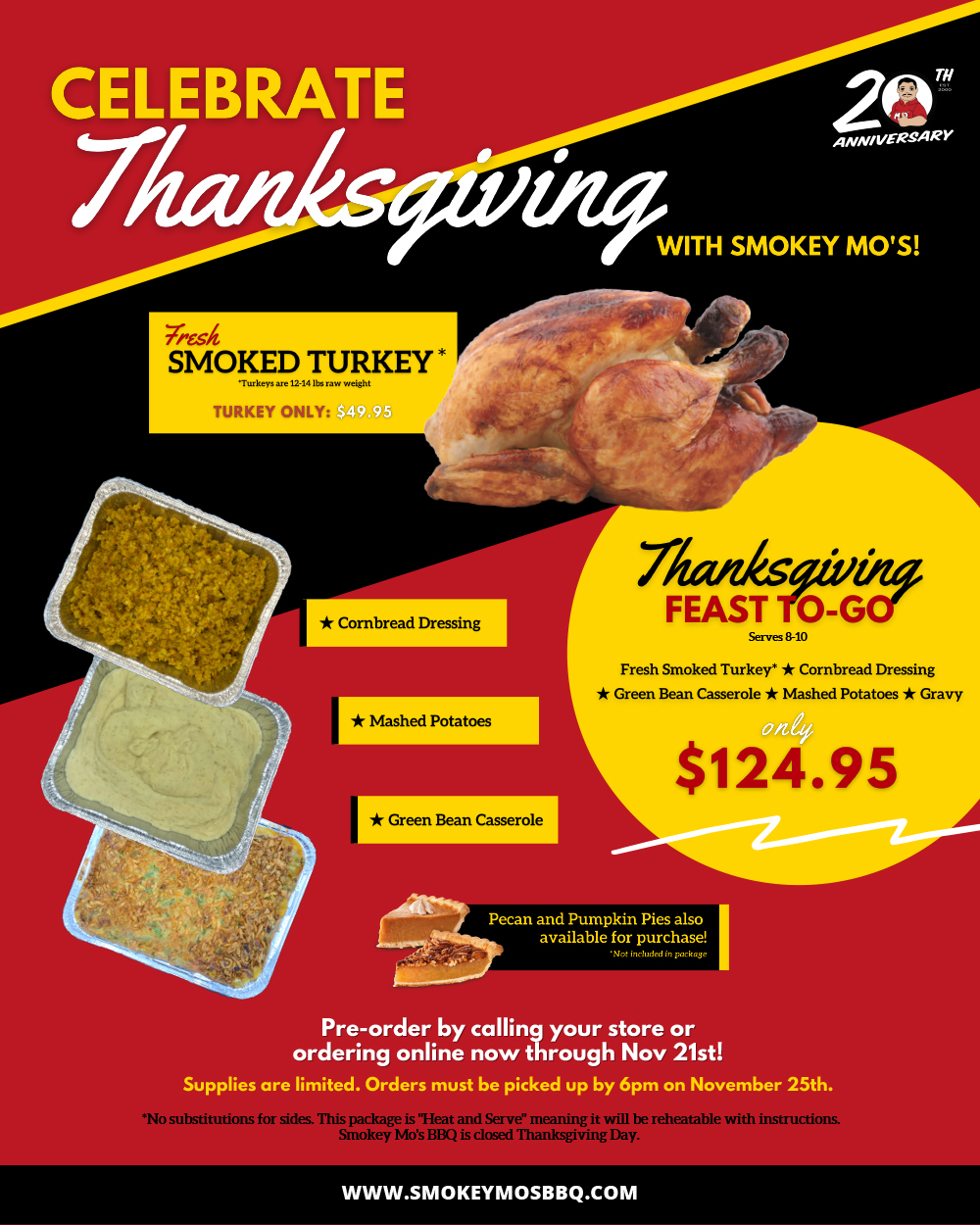 Order Holiday Smoked Turkey