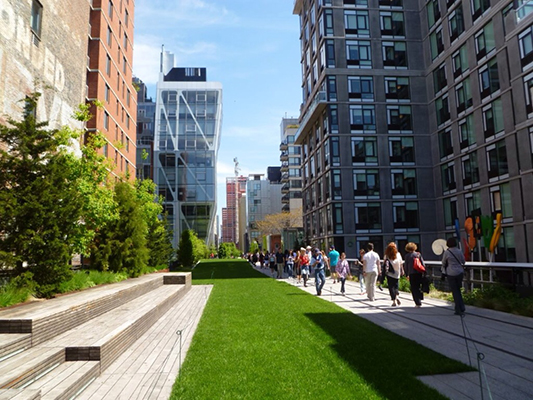 Chelsea Manhattan High Line Park NYC