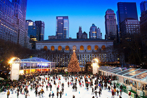 Christmas in NYC bryant park winter village