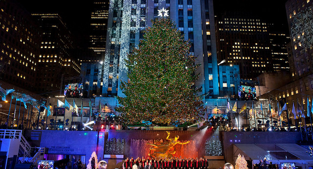 Christmas in NYC rockefeller center christmas tree