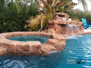 Rock waterfall, rock spa