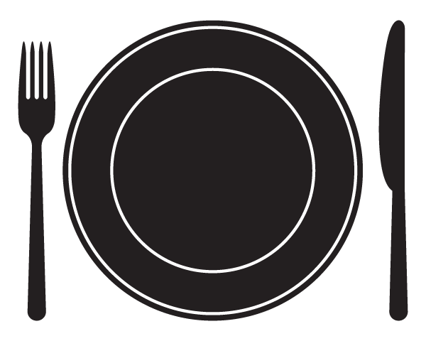 Emergency Food Pantry Plate and Flatware Icon