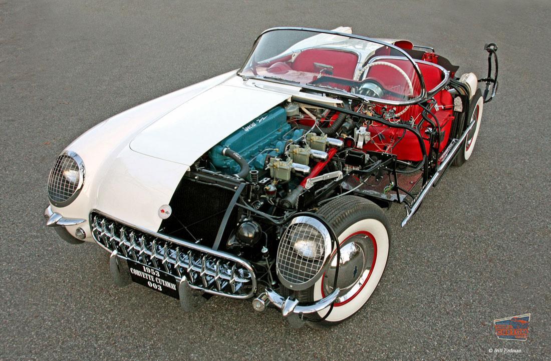 1953 'cutaway' Corvette