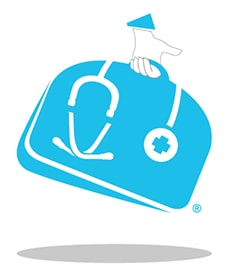 image of a doctors to you briefcase with a house call symbol
