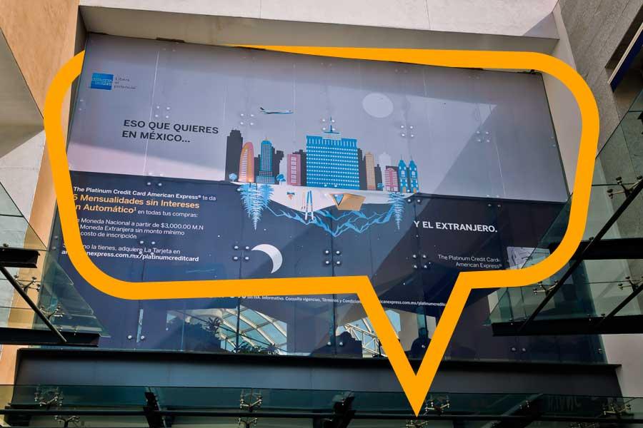 Publicidad en Fachadas de Centros Comerciales