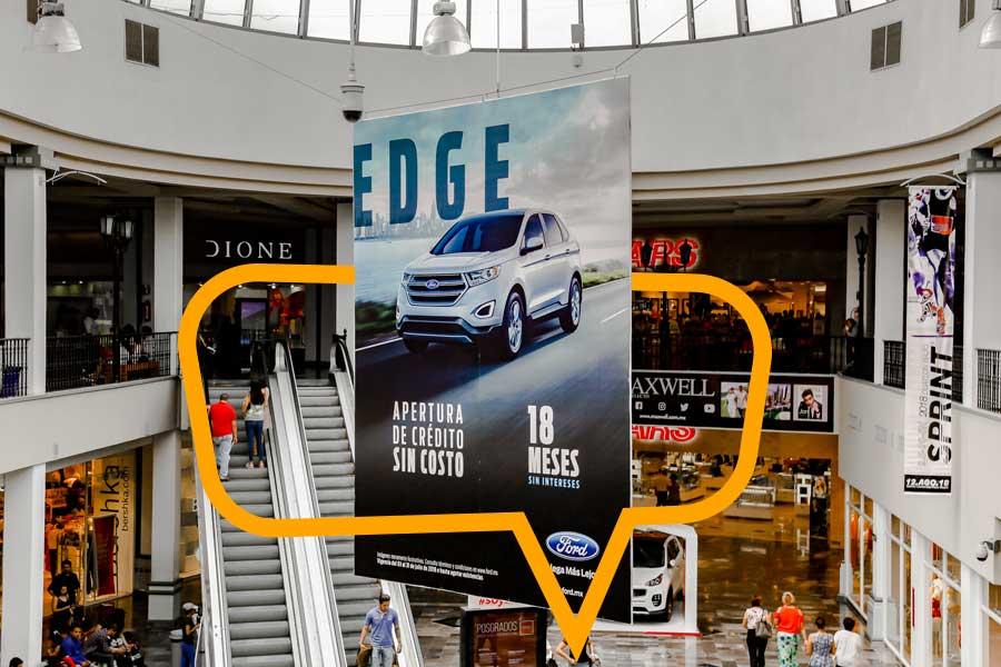 Publicidad en Aves en Centros Comerciales