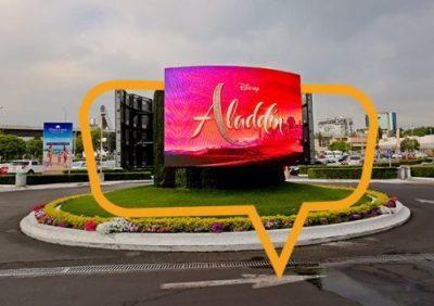 Publicidad en Perisur Glorieta Aladin