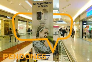 Publicidad en Pendones en Centros Comerciales