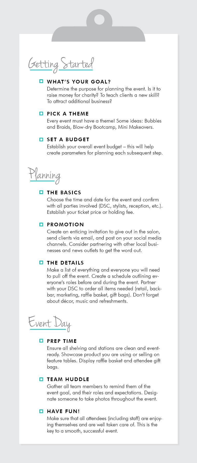 Salon Event Planning 101