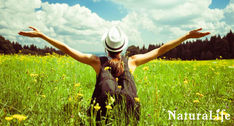 bathing in sunlight to increase energy
