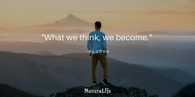 what we think we become, and inspirational quote