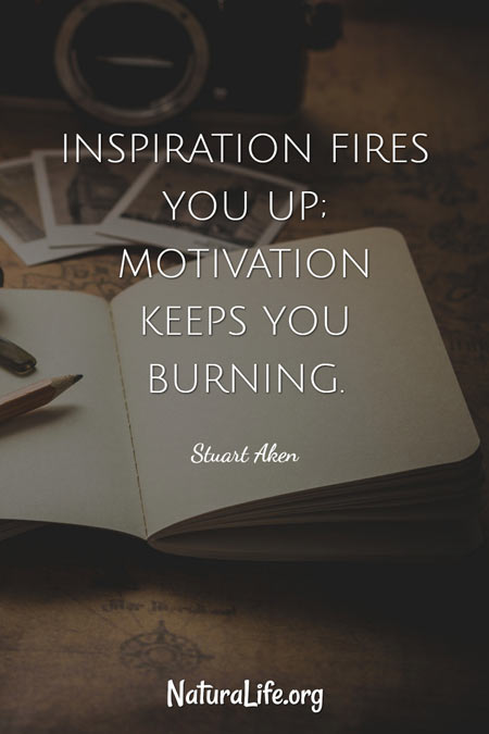 Inspiration Fires You Up; Motivation Keeps You Burning -- motivational quote