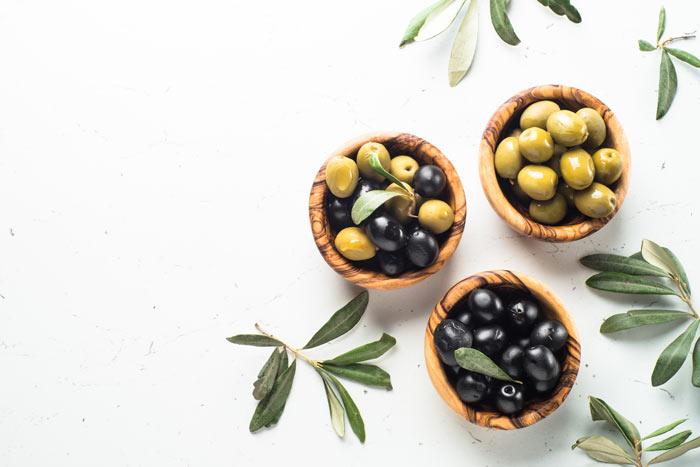 black and green olives for salad