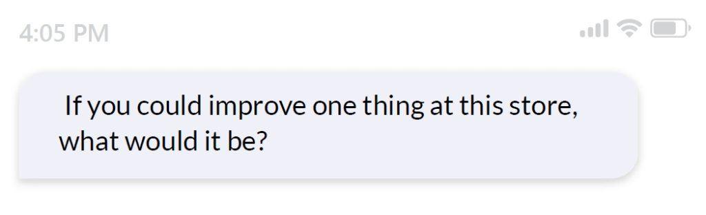 improvements survey question