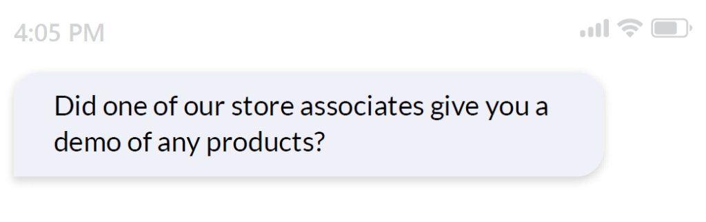 key activity survey question
