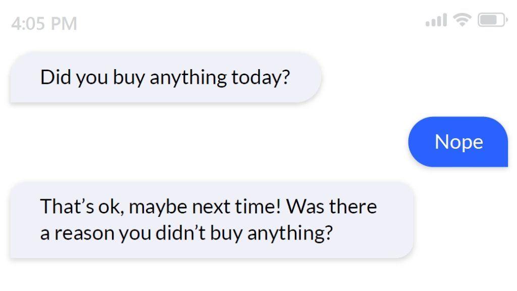 purchase vs non-purchase survey question