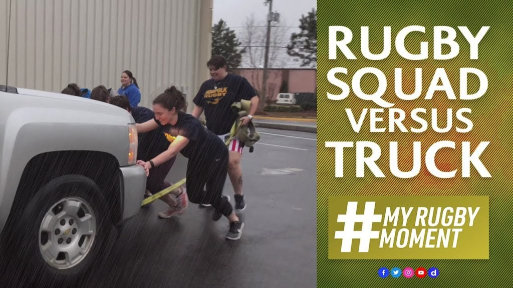 Rugby squad vs truck! | #MyRugbyMoment