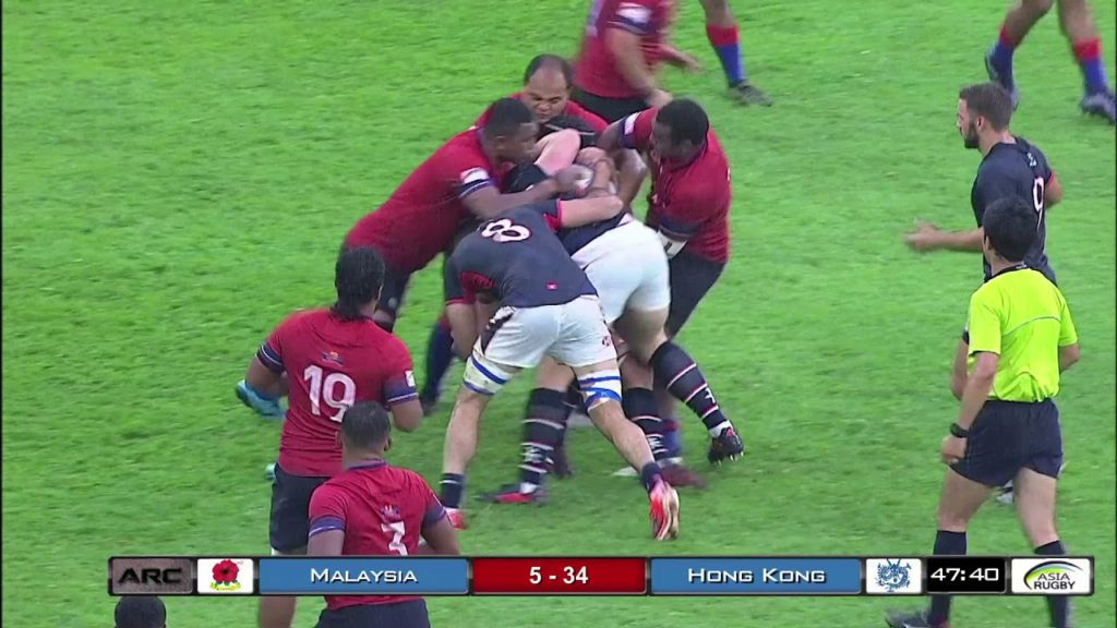 Malaysia Vs Hong Kong  #ARC2018  Rugby Highlights Video Week 2