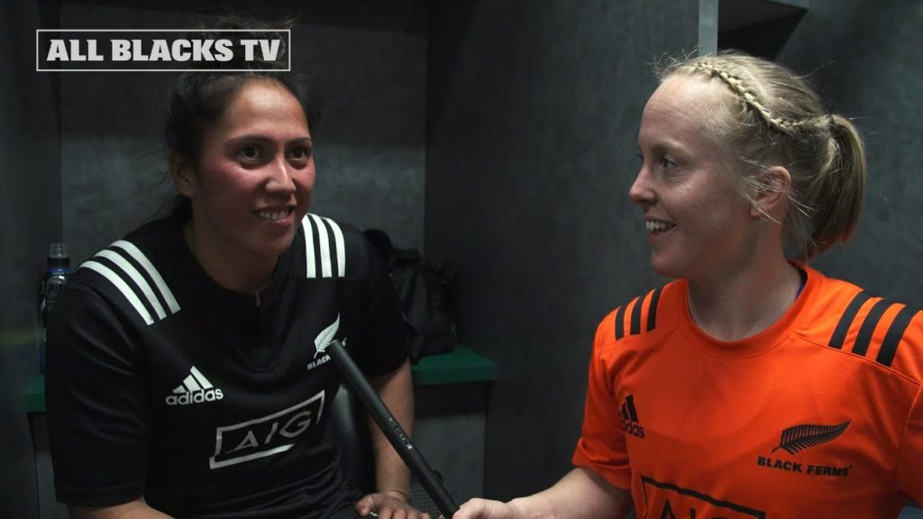 Post-Match Reaction with the Black Ferns