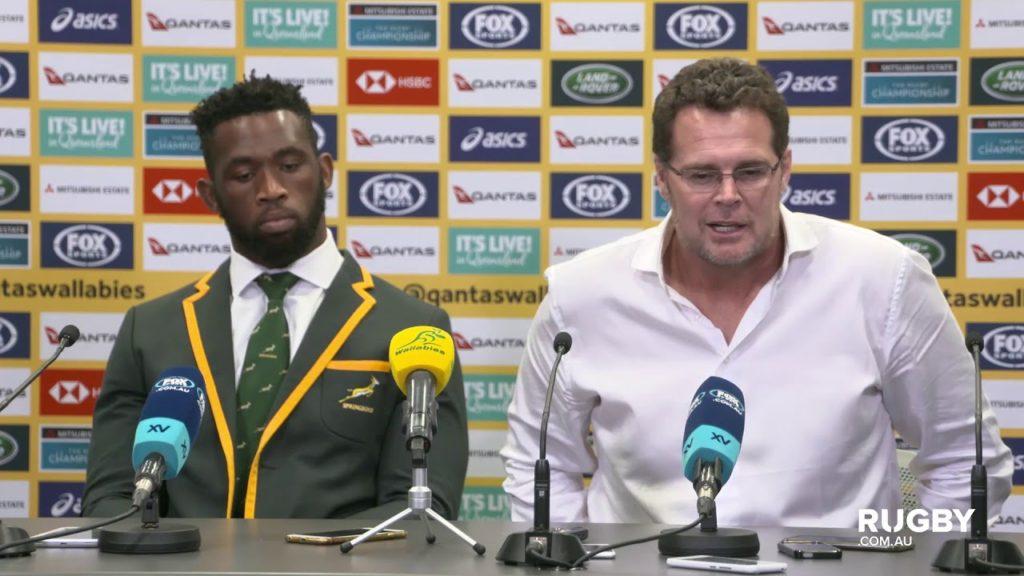 TRC: Springboks press conference, Brisbane
