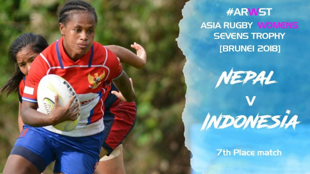 Asia Rugby Women's Sevens Trophy Nepal V Indonesia 9th Place Match
