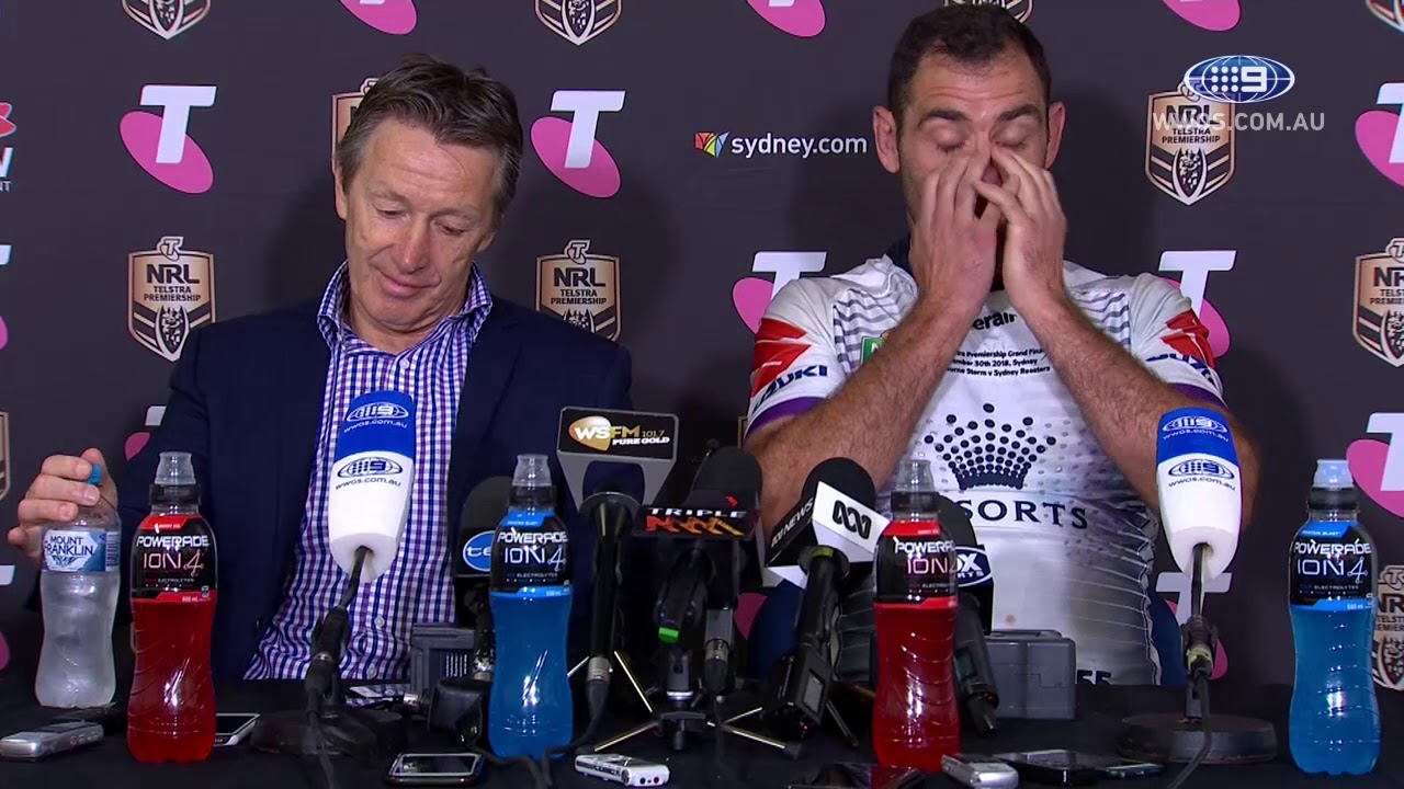 NRL Press Conference: Melbourne Storm - 2018 Grand Final