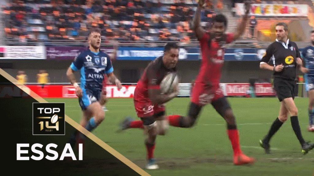 TOP 14 – Essai Rudi WULF (LOU) – Montpellier – Lyon – J14 – Saison 2018/2019