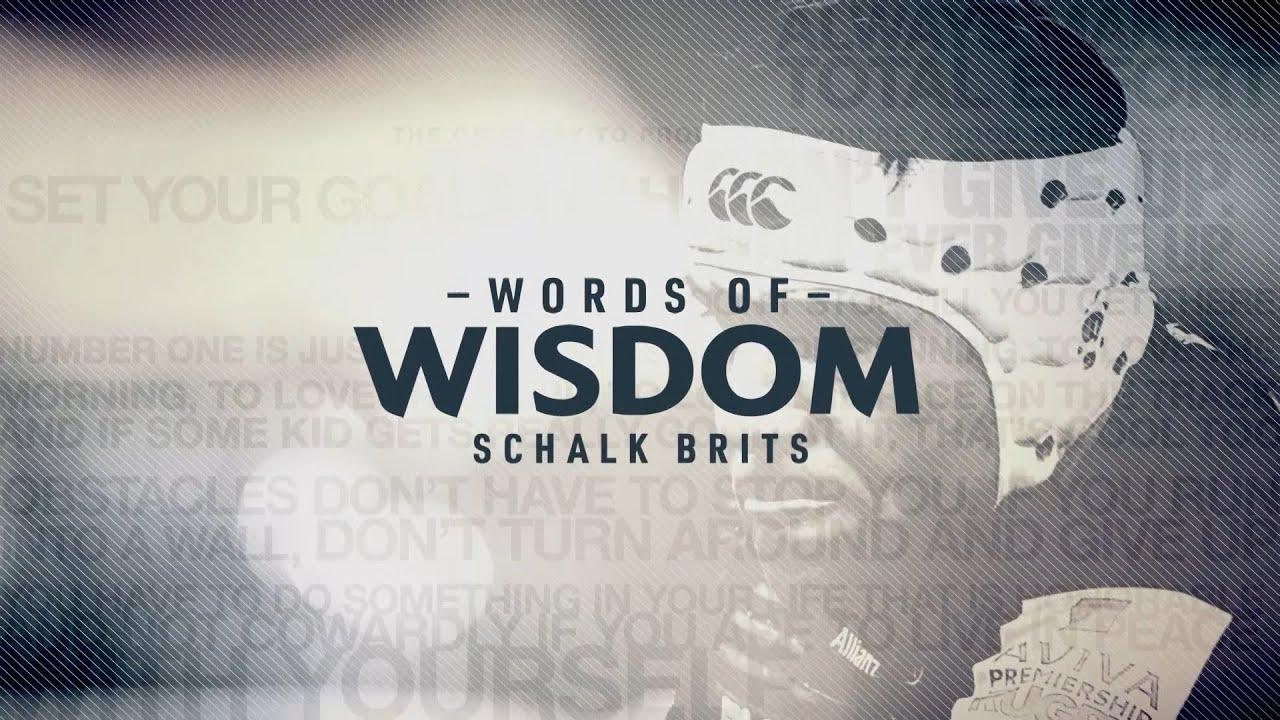 Schalk Brits | Words of wisdom