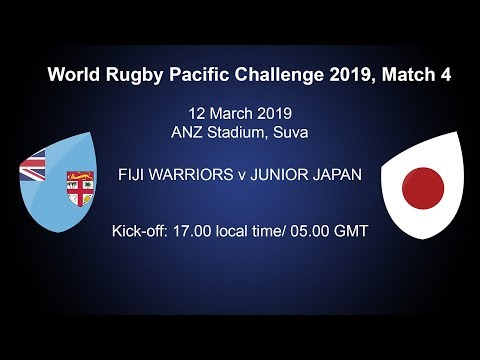 Pacific Challenge 2019 – Fiji Warriors v Junior Japan – Live