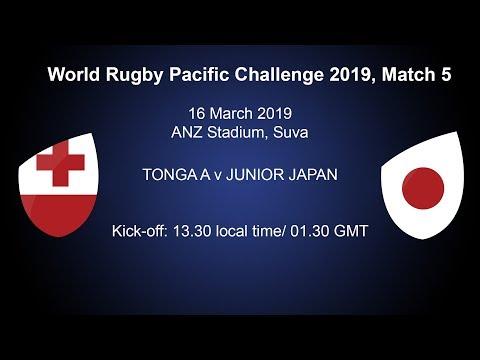 Pacific Challenge 2019 – Tonga A v Junior Japan – Live