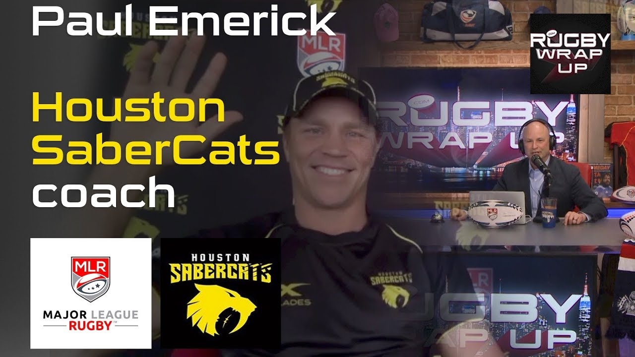 Major League Rugby: Houston SaberCats Head Coach Paul Emerick. Honest & Open After 1st Win.