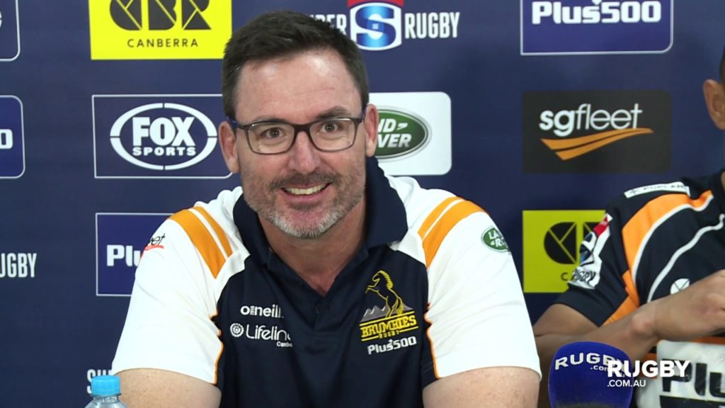 Super Rugby 2019 Round 12: Brumbies Press Conference