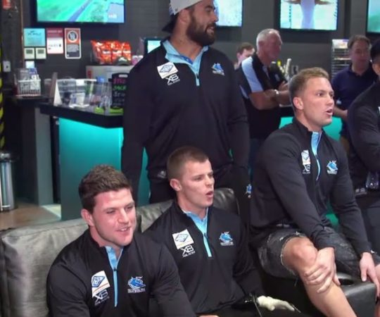 Which Sharks player has the best golf swing? | NRL on Nine