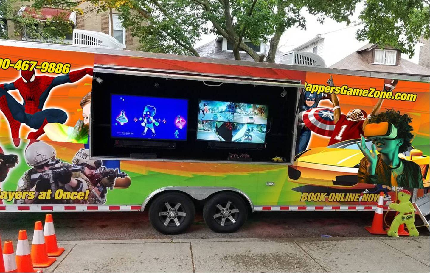 Video game truck party in Chicago - Dappers Game Zone