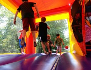 Kids in bounce house rental in Chicago and Northwest Indiana