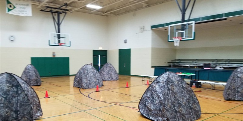 We can even set up Laser Tag indoors!