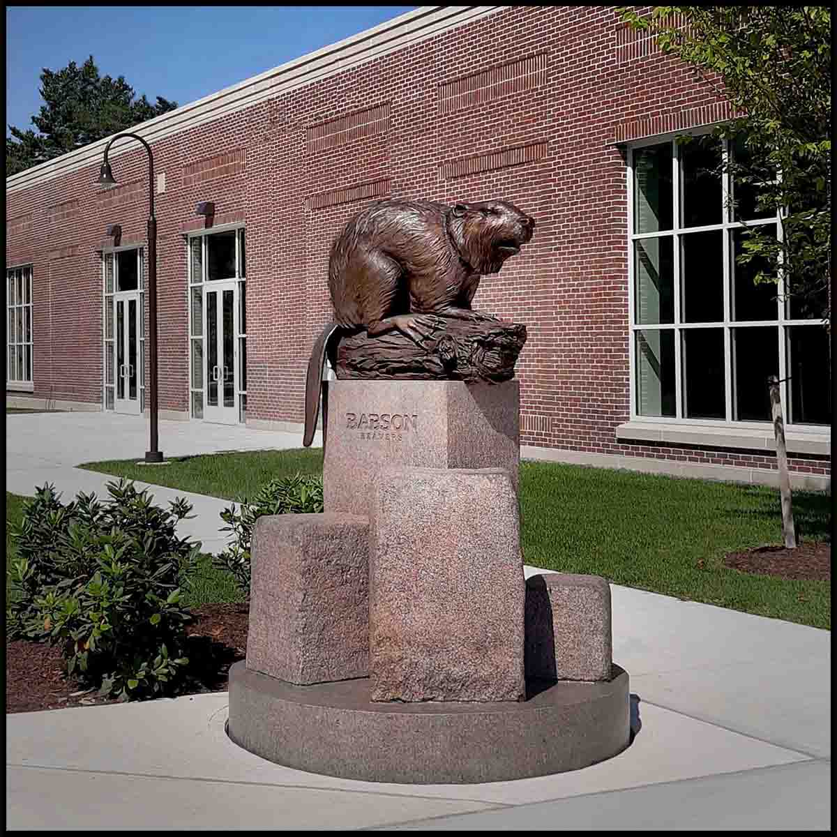 Babson College Beaver Sculpture