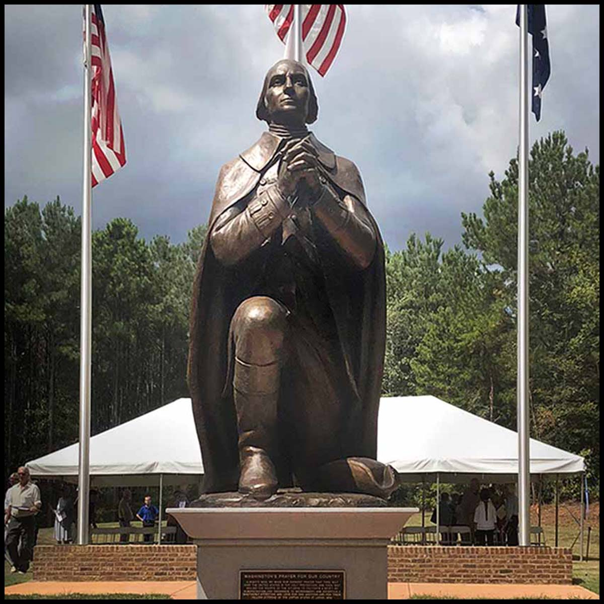 Washington Kneeling in Prayer