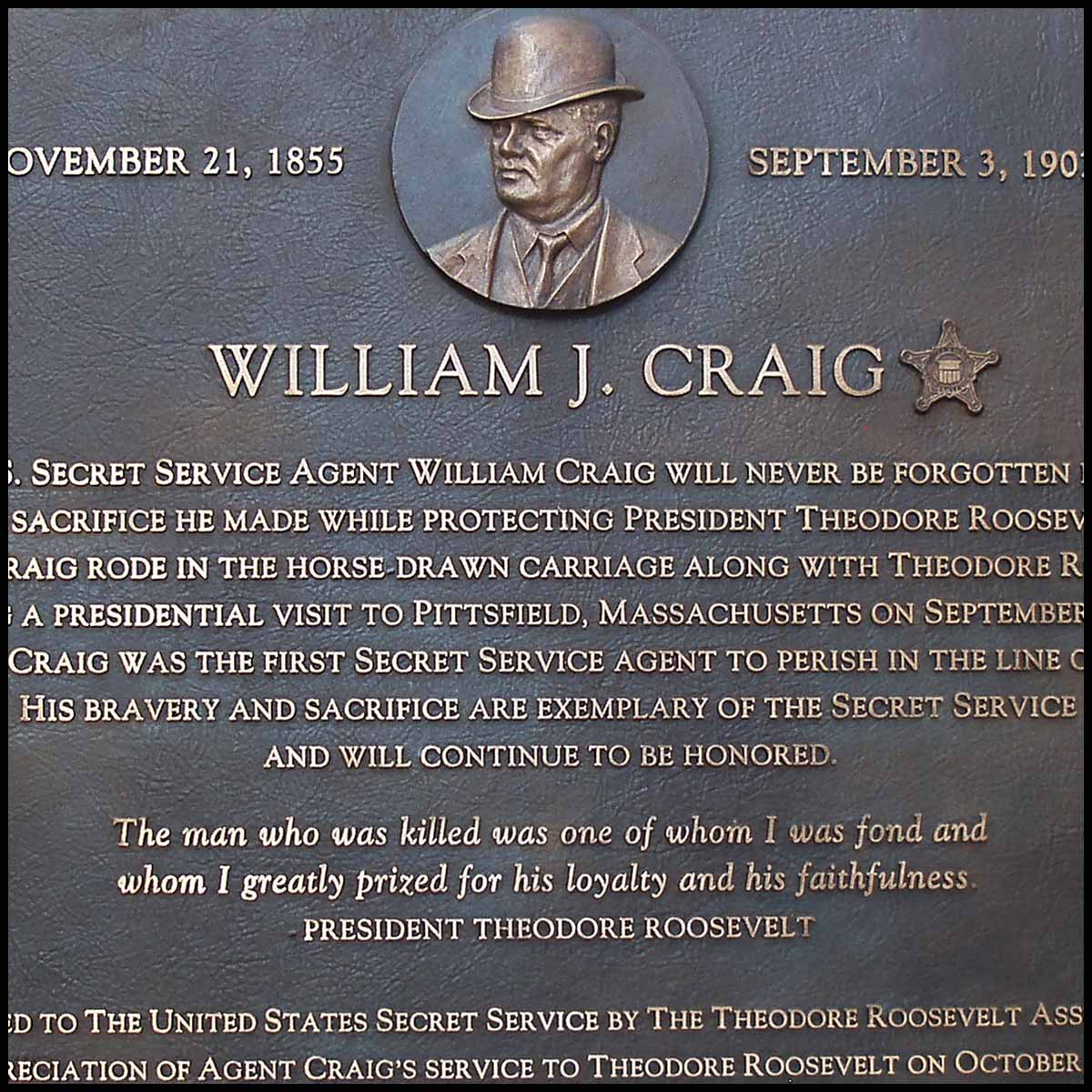William J. Craig Plaque