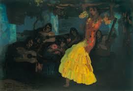 Baile gitano. Herenegildo Anglada Camarasa, circa 1914-1922.