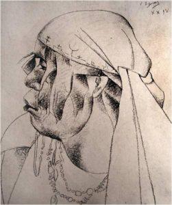 Cabeza indigena, Camilo Egas, 1924