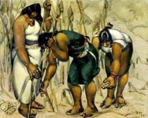 Recogedoras de maíz, Camilo Egas, 1925