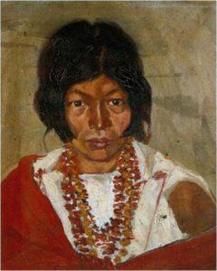 Retrato de india, Camilo Egas, 1906