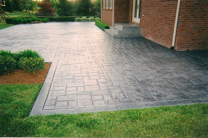 New Stamped Concrete Patio stamped decorative concrete Stamped Decorative Concrete Services AA Ashlar Slate Patio 3