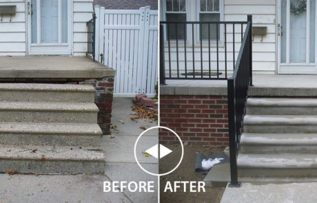 New Concrete Stairs Before & After
